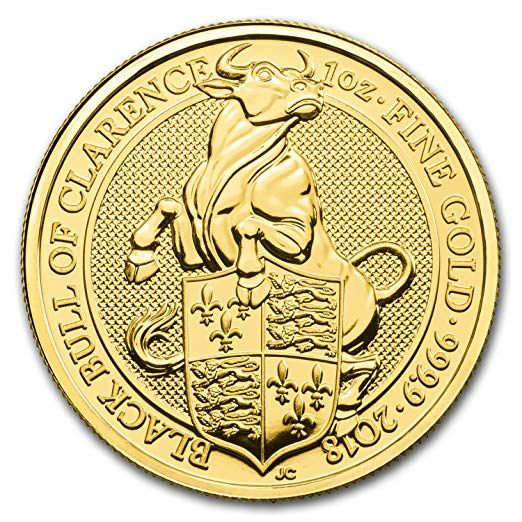 2018 Uk Great Britain 1 Oz Gold Queen S Beasts The Bull 1 Oz Brilliant Uncirculated At Amazon S Collectible Coins St Gold Bullion Coins Gold Bullion Gold Coins