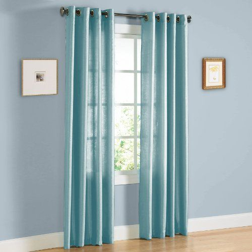 Curtains Ideas 54 curtain panels : HLC.ME Pair of Light Blue Faux Silk Grommet Curtain Panels - 54 by ...