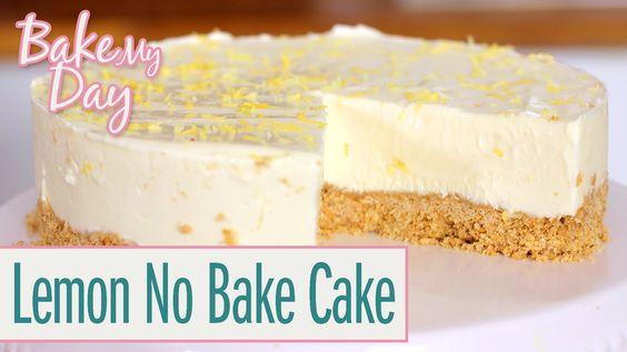 No Bake Lemon Cheesecake   BakeMyDay