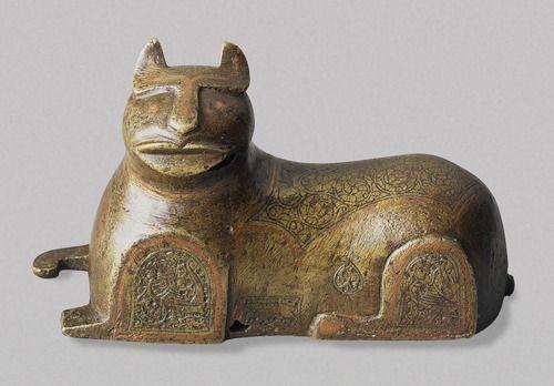 Cat Figure, Persia, 12th-13th century, The Hermitage Museum: