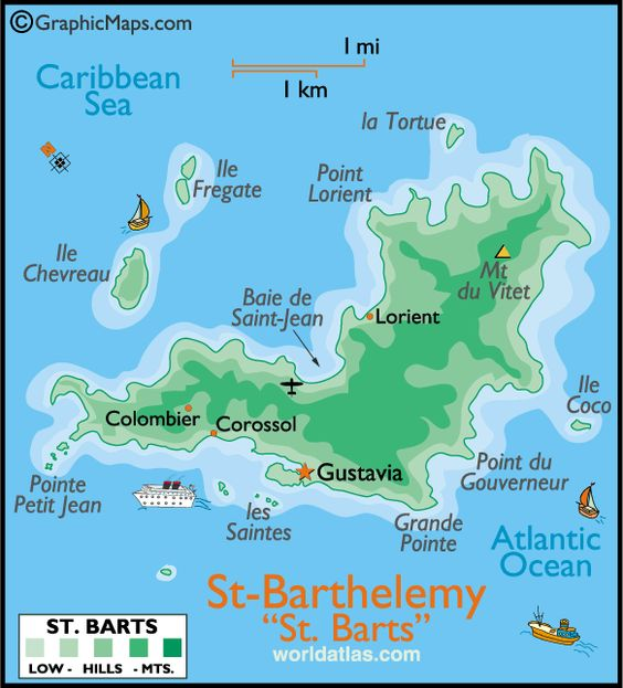 St Barths The BEST Island In The Carribean Travel Pinterest - Saint barthelemy map