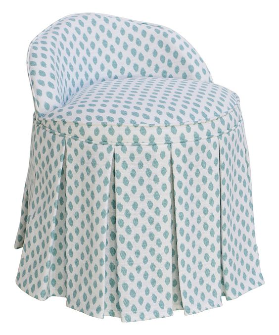 Look at this Mineral Sahara Skirted Vanity Chair on #zulily today!