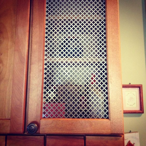 DIY Cabinet Grate Made From A Radiator Cover That Was