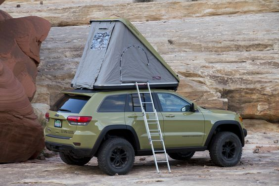 Jeep Grand Cherokee Overlander with Rooftop Tent ★ App for Jeep ★ Jeep Warning Lights guide, is now in App Store   https://itunes.apple.com/us/app/jeep-indicators-warning-lights/id926590558?ls=1&mt=8