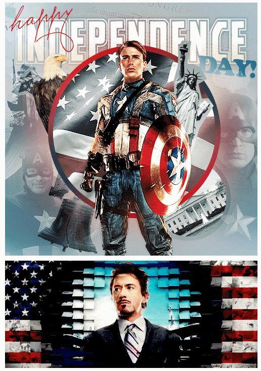 Captain America & Tony Stark showin' some <3 for America