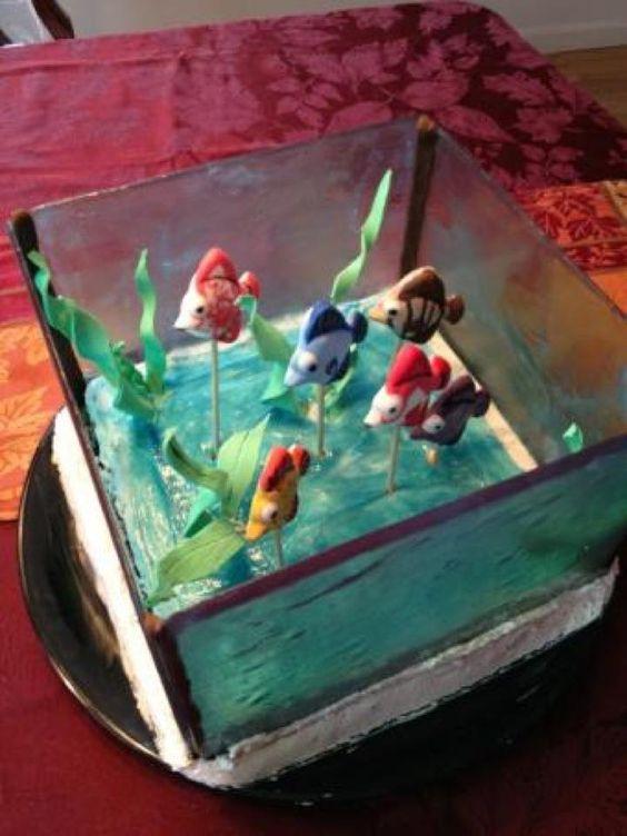 Pinterest the world s catalog of ideas for Fish tank cake designs