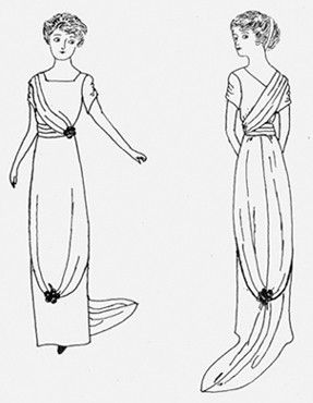 Women's period clothing patterns