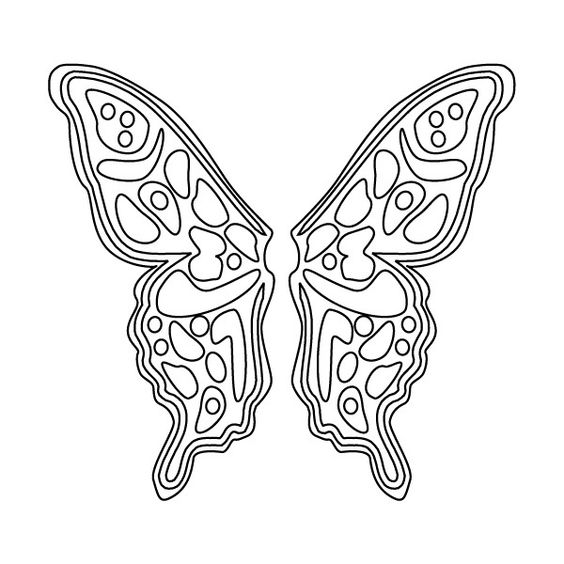 free angel wings coloring pages - photo#23