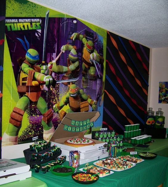 Teenage Mutant Ninja Turtles Birthday Party Ideas | Photo 12 of 39 | Catch My Party: