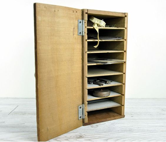 Vintage Rustic Wood Organizer
