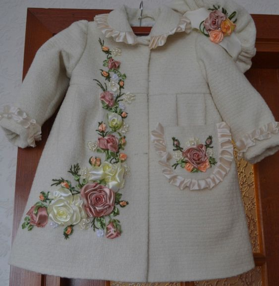 Child's embellished coat. this would look lovely in miniature.
