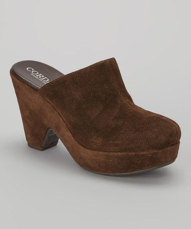 Love this Brown Tarma Suede Mule by Cordani on #zulily! #zulilyfinds