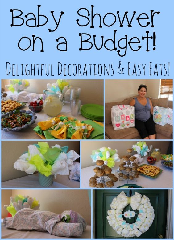 creating a baby shower on a budget with affordable diaper decorations