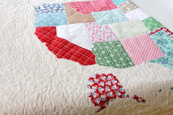 Best Images About US Map On Pinterest Washington Quilt And - Us map quilt tutorial