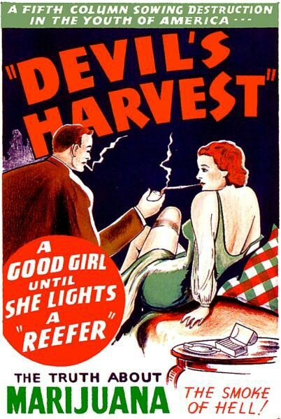 A good girl until she lights a reefer #Vintage #poster #marijuana: