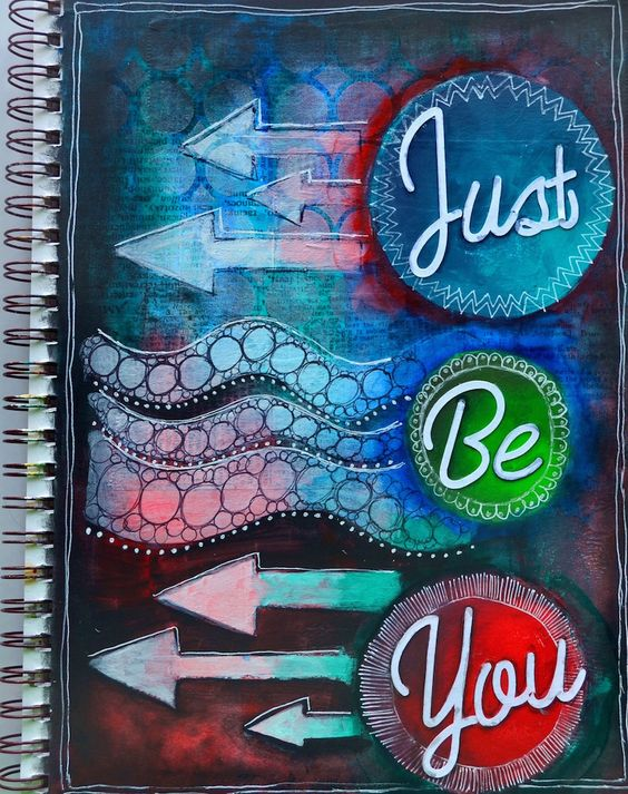 Hi friends     Artsy Monday time! I created an art journal page that is filled with fun techniques.      I want to point out that the w...