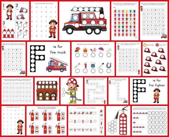 Fire Fighter Do-a-Dot Printables