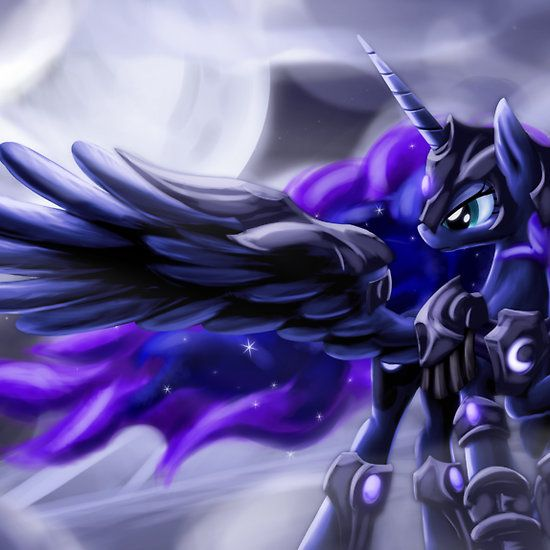 This is Princess Luna in a warrior outfit. I think this is a super cool picture.
