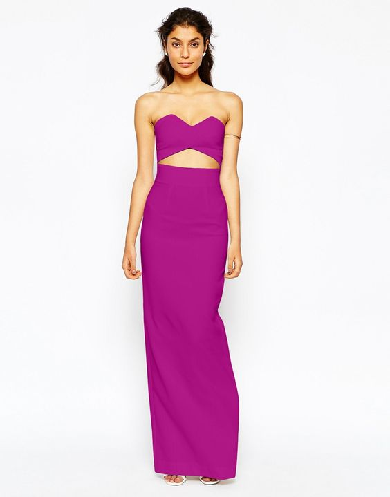 Solace London Bandeau Maxi Dress With Wrap Over Top- $235 (so gorgeous!)