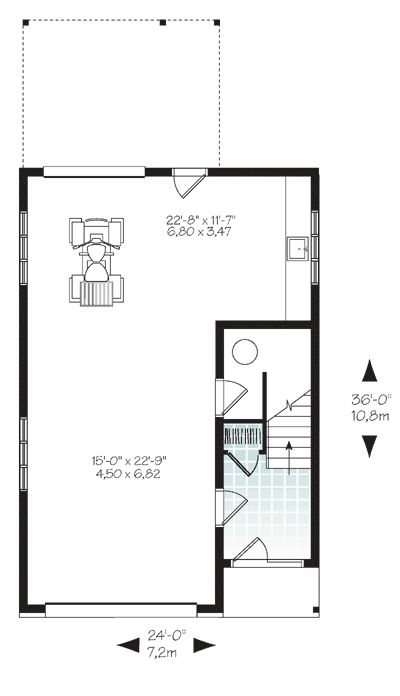 Plan 22389DR: Vacation Escape With Back Views