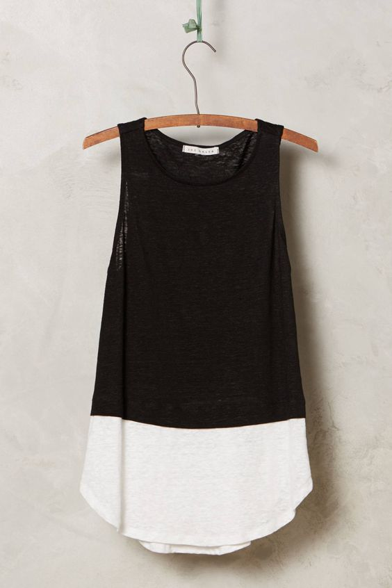 Colorblocked Linen Tank - anthropologie.com