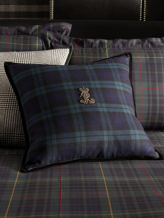 Fletcher Cashmere Throw Pillow Ralph Lauren Black
