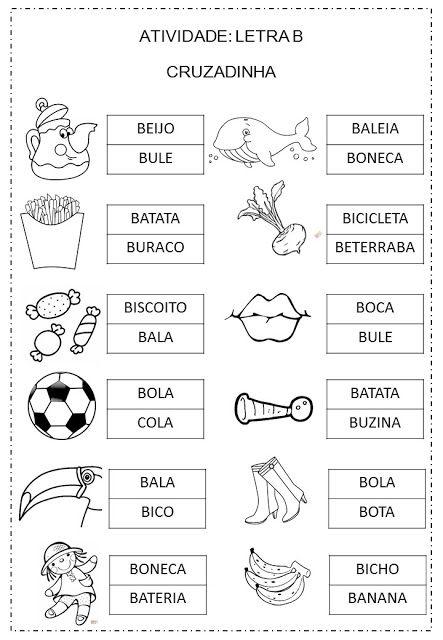 Criar Recriar Ensinar Letra B Com Imagens Atividades