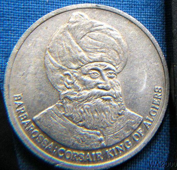 Souvenir coin of Hayreddin Barbarossa Corsair King of Algiers