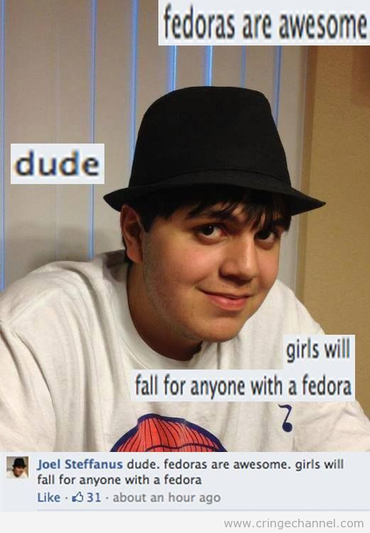 Neckbeard fedora atheist - photo#21