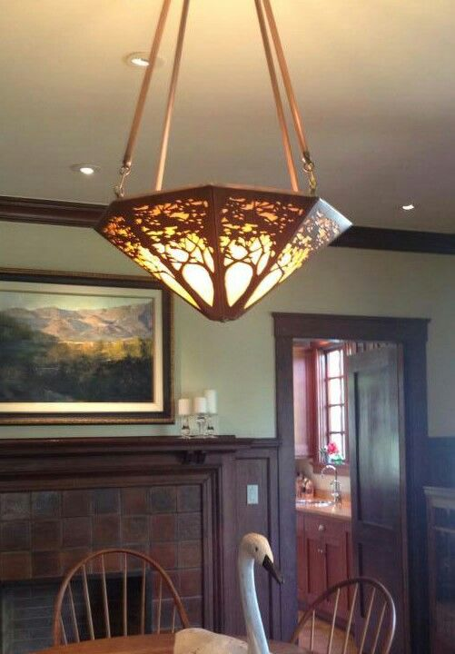 Arts U0026 Crafts | Craftsman | Copper | A James Mattson Coppercraft Chandelier  Graces The Dining Room Of This C.1912 California Bungalow | Pinterest ... Part 67