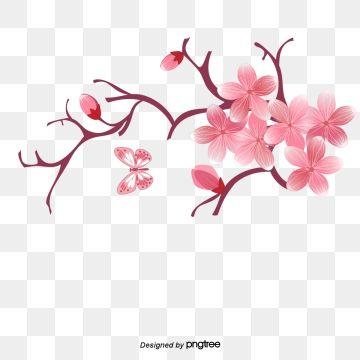 Cartoon Vector Cherry Vector Cartoon Pink Cherry Blossoms Flowers Pink Vector Blossoms Vector Cherry Blossom Cherry Blossom Flowers Blossom