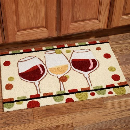 En Vin Wine Rug Multi Warm 19 X 29 Wine Theme Kitchen Wine Decor Wine Theme