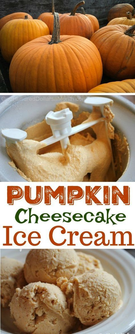 Pumpkin Cheesecake Ice Cream - One Hundred Dollars a Month