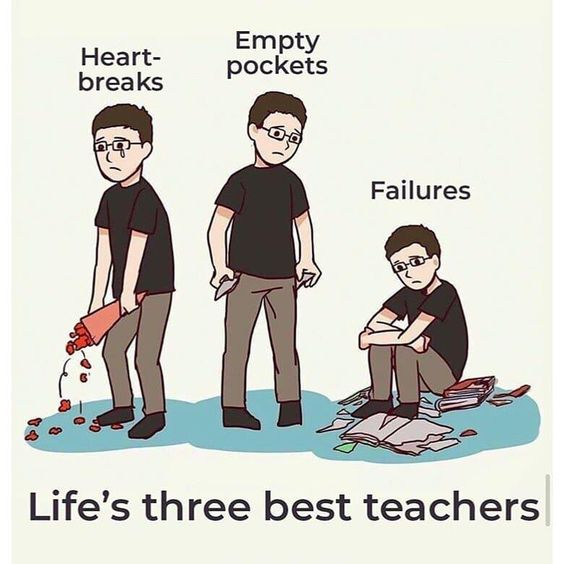 Life Gives You A Test Then A Lesson
