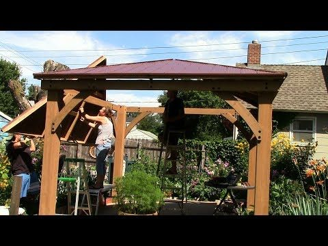 Costco Yardistry 12x12 Cedar Gazebo Rafters Panels Raising The