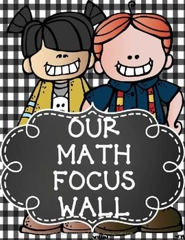 """FREE FOCUS WALL POSTERS AND LABELS FOR MATH AND READING-PRIMARY GRADES .....Follow for Free """"too-neat-not-to-keep"""" teaching tools & other fun stuff :)"""
