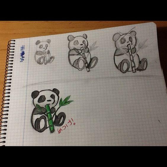 panda drawings
