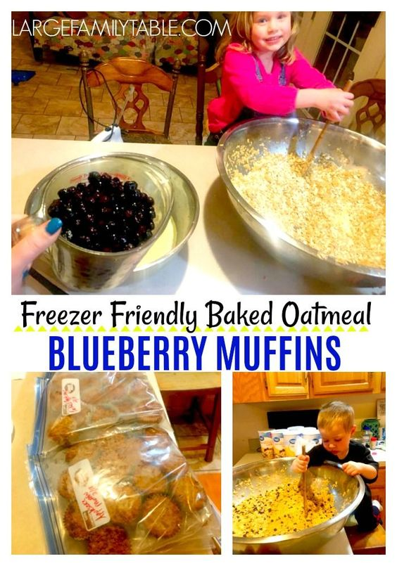 Baked Oatmeal Blueberry Muffins