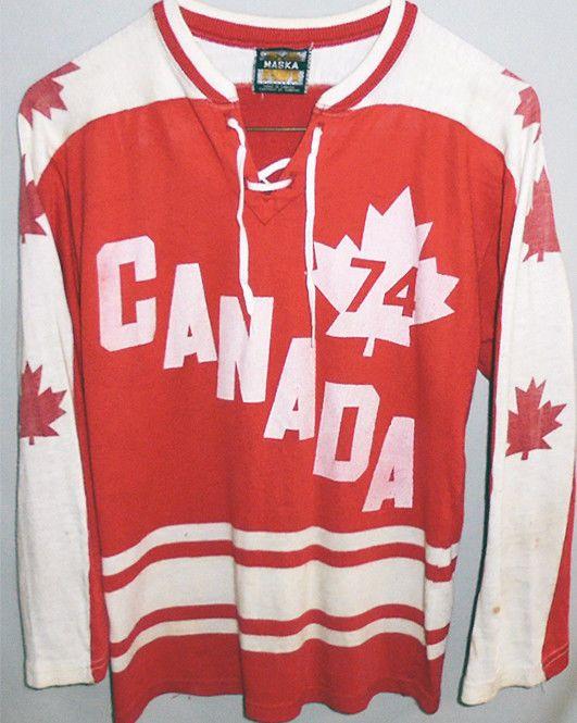 Original 1974 Team Canada Vintage Ussr Summit Series Hockey Uniform Jersey Fashion Sports Mem Cards Fan S Team Canada Hockey Uniforms Sports Uniforms