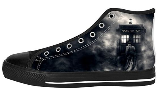 #DoctorWho David Tennant Design Fashion Sneakers!  Buy it from here