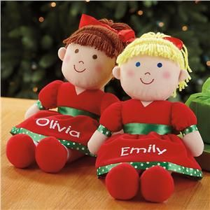 Personalized Christmas Dolls