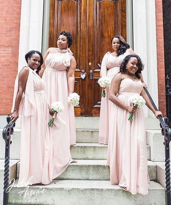 Blush Bridesmaid Dresses - Beautiful Baltimore Wedding Location ...