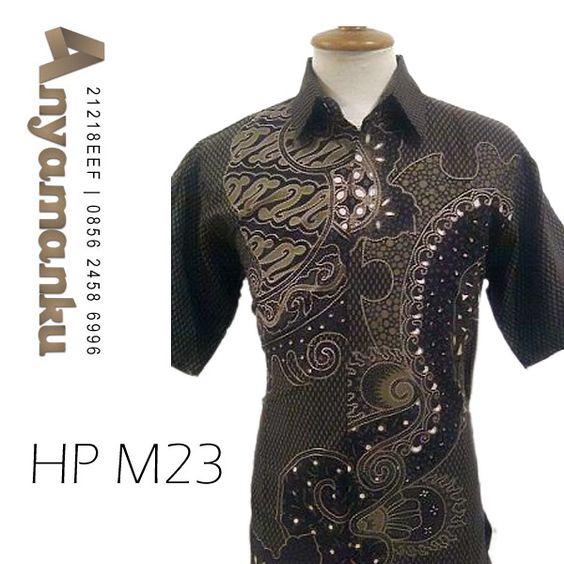 Kemeja Batik Solo Pendek HP M23 Harga  50 rb Ukuran  S M L