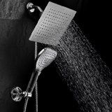 "AKDY® 2 Function - Waterfall and Water Spray - Luxury Large 8"" Shower Head / ABS Material with Satin Nickel Finish / Enjoy an Invigorating & Luxurious Spa-like Experience - LIFETIME WARRANTY - - Amazon.com"