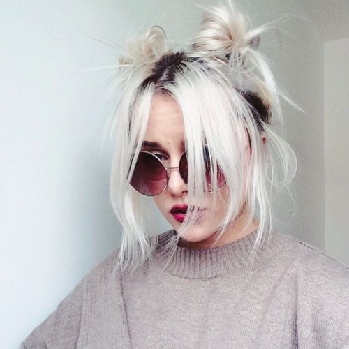 Bun hair, Boho and Bangs on Pinterest