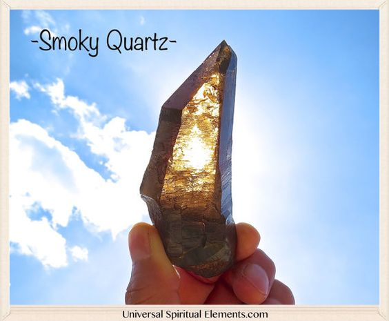 """Smoky Quartz Crystal. Mined By: Amanda Adkins From Prospectors.  Amanda Adkins from Prospectors mined this beauty in Mount Antero, Colorado during one of her tapings of the show. I was able to hand pick this specimen from her collection at """"The Tucson Gem & Mineral Show"""". This beautiful smoky quartz crystal has natural form and definition, which makes it perfect for master healing on all levels."""