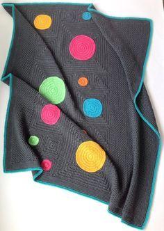 Modern unisex baby blanket