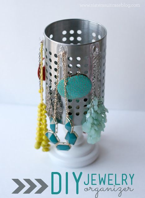 My Sister's Suitcase: DIY Jewelry Organizer with IKEA Utensil Holder