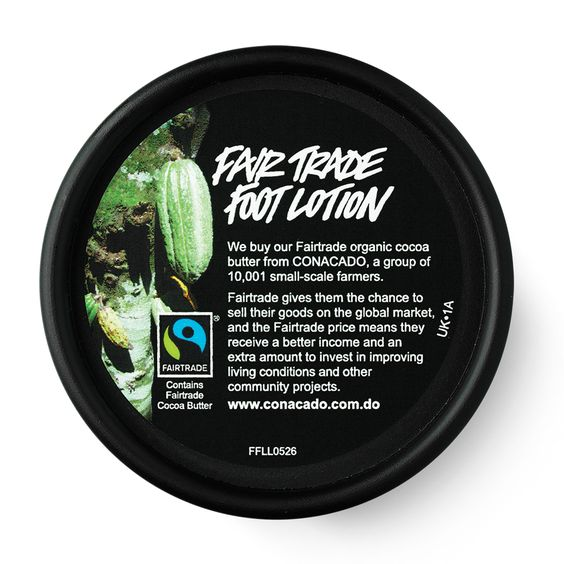 Fair Trade Foot Lotion | Lush relaxa e hidrata- boa para pes cansados