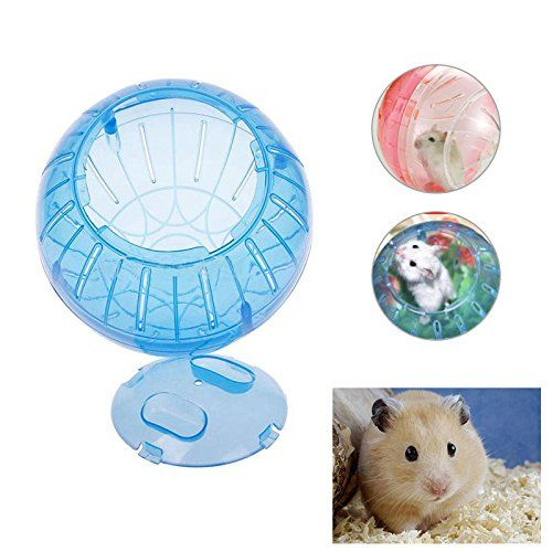 Bigfamily Pet Dwarf Jogging Run Activity Toy Ball Hamster Mice Exercise Play Random Color Click Photo To Evaluate Mo Small Pets Exercise Wheel Activity Toys